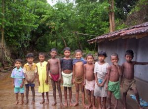 Santhal Children in a village of Pakur district in Jharkhand
