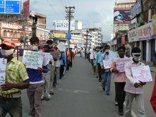 A protest against Corruption in NREGA