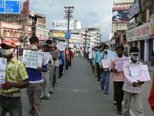 A protest against Corruption in NREGA
