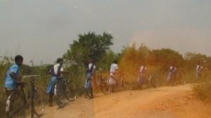 Indigenous Children going to school