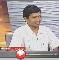 Gladson Dungdung in CNN-IBN Studio