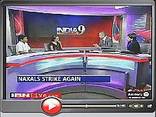 "Gladson Dungdung, Arundhari Roy, Rajdeep Sardesai and Suhasini Haider in CNN-IBN ""Talking Point"""