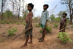 Adivasi children photo by Tehelka