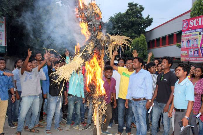 Adivasi Youth Protesting against MSG-2